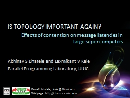 Effects of contention on message latencies in large superco