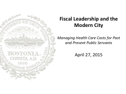 Fiscal Leadership and the Modern City PowerPoint PPT Presentation