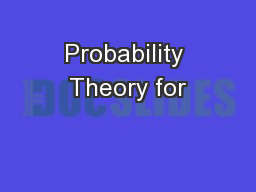 Probability Theory for