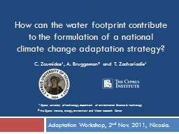 How can the water footprint contribute to the formulation o