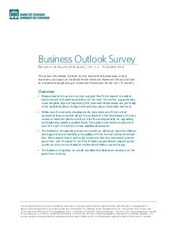 Business Outlook Survey Results of the Autumn  Survey  Vol PowerPoint PPT Presentation