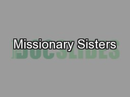 Missionary Sisters
