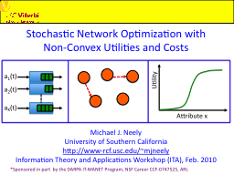 Stochastic Network Optimization with
