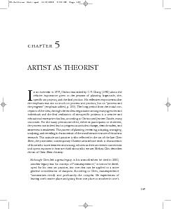 ARTIST AS THEORISTn an interview in 1979, Christo was asked by C. Y. C