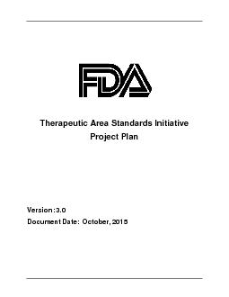 Therapeutic Area Standards (TAS) InitiativeProject Planersion: Docum