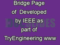Popsicle Bridge Page of  Developed by IEEE as part of TryEngineering www