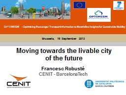Moving towards the livable city