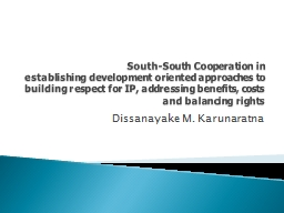 South-South Cooperation in