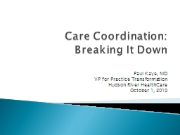 Care Coordination: PowerPoint PPT Presentation