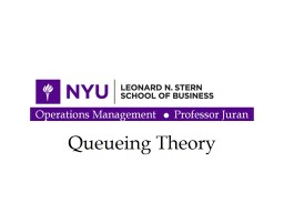 Queueing Theory