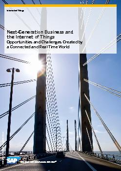 Internet of ThingsNext-Generation Business and the Internet of ThingsO