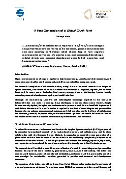 """A New Generation of a Global Think Tank Concept Note""""….momen"""