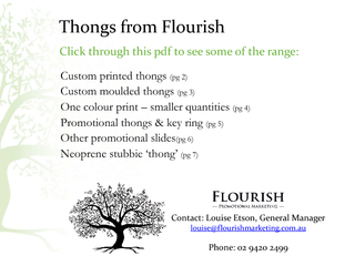 Thongs from FlourishCustom printed thongs (pg 2)Custom moulded thongs