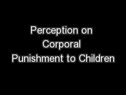 effects of corporal punishment pdf