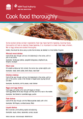 Cook food thoroughlySome cooked dishes contain ingredients that may ha