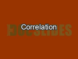 Correlation PowerPoint PPT Presentation