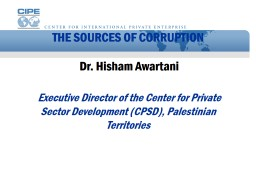 THE SOURCES OF CORRUPTION
