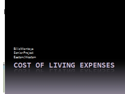 Cost of Living Expenses PowerPoint PPT Presentation