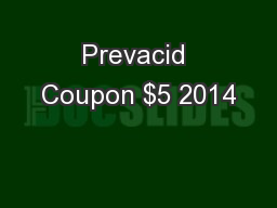 Prevacid Coupon $5 2014