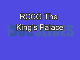 RCCG The King�s Palace
