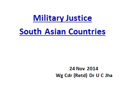 Military Justice PowerPoint PPT Presentation