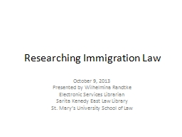 Researching Immigration Law PowerPoint PPT Presentation