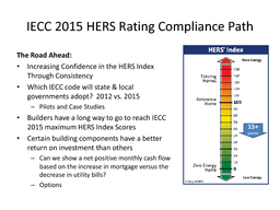 HERS Ratings as Compliance Option in the  International Energy Conservation Code Builders Perspectives Jim Petersen  Dean Potter  Jacob Atalla February   IECC  HERS Rating Compliance Path What is it