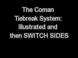 The Coman Tiebreak System: Illustrated and then SWITCH SIDES PowerPoint PPT Presentation