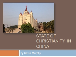 State of Christianity in China