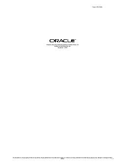 Prices in USA Dollar Oracle EBusiness Suite Applications Global Price List November   Software Investment Guide This document is the property of Oracle Corporation