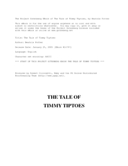 The Project Gutenberg EBook of The Tale of Timmy Tiptoes, by Beatrix P