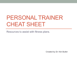 Personal Trainer Cheat Sheet PowerPoint PPT Presentation