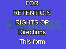 Chancellors Regulation C  APPLICATION FOR PER SESSION EMPLOYMENT AND CLAIM FOR RETENTIO N RIGHTS OP Directions This form must be completed and submitted to the per session supervisor prior to commenc