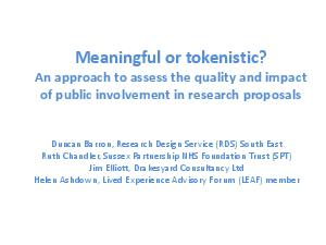 Meaningful or tokenistic? PowerPoint PPT Presentation