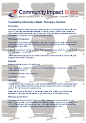 Fundraising Information Sheet