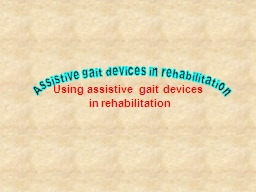 Using assistive gait devices