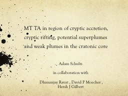 MT TA in region of cryptic accretion