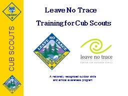 Leave No Trace PowerPoint PPT Presentation
