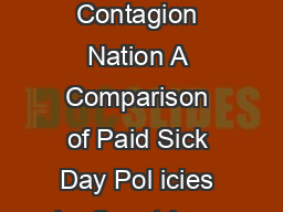 Contagion Nation A Comparison of Paid Sick Day Pol icies in  Countries  Contagion Nation A Comparison of Paid Sick Day Pol icies in  Countries   Contagion Nation A Comparison of Paid Sick Day Pol ic