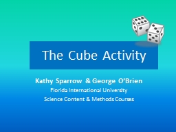 The Cube Activity PowerPoint PPT Presentation