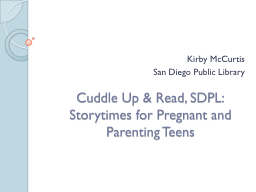 Cuddle Up & Read, SDPL: Storytimes for Pregnant and Par