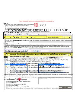 Please take one of the actions from the below to display your deposit slip
