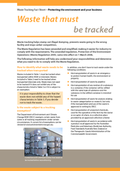 that must be trackedWaste Tracking Fact Sheet—Protecting the env