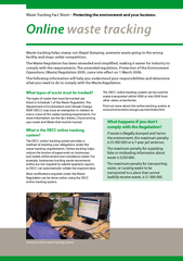 Online waste trackingWaste Tracking Fact Sheet—Protecting the env PowerPoint PPT Presentation