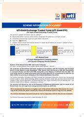 UTI-Gold Exchange Traded Fund (UTI Gold ETF)