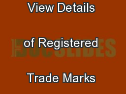 Guidelines to Find and View Details of Registered Trade Marks and  ...