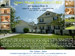 Open House Saturday 11:30-2