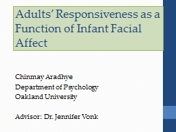 Adults' Responsiveness as a Function of Infant Facial Aff PowerPoint PPT Presentation