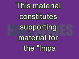 This material constitutes supporting material for the