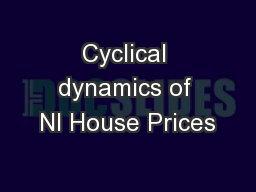 Cyclical dynamics of NI House Prices